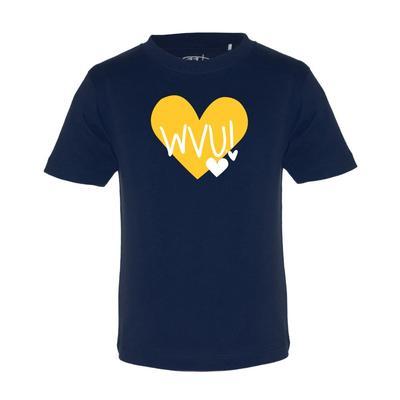 West Virginia Garb Toddler Hearts Short Sleeve Tee