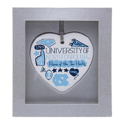 UNC Julia Gash Ceramic Heart Ornament