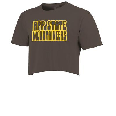 Appalachian State Retro Outline Cropped Short Sleeve Comfort Colors Tee
