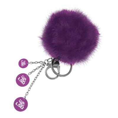 LSU Puffball Key Chain