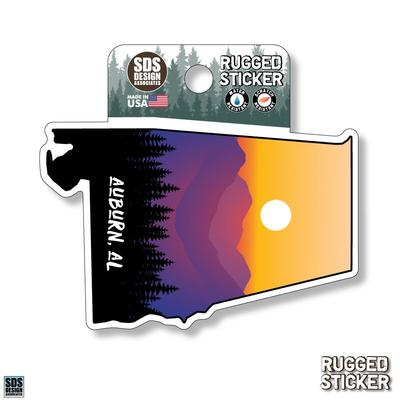 Seasons Design Auburn State Shape Sunset 3.25
