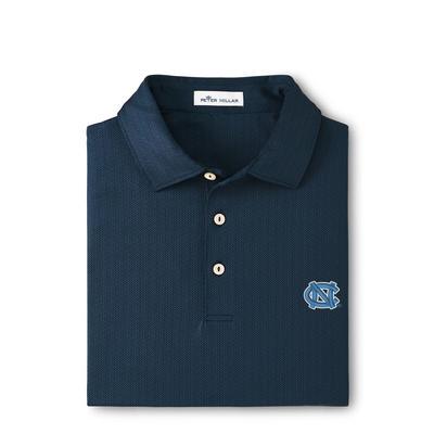 UNC Peter Millar Jamm Printed Geo Stretch Jersey Polo