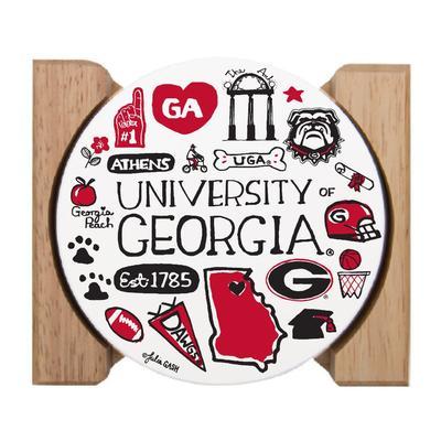 Georgia Julia Gash Drink Coasters (4 Pack)