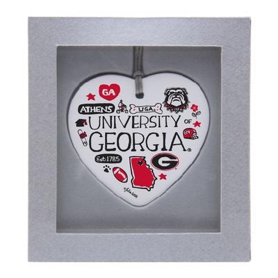 Georgia Julia Gash Ceramic Heart Ornament