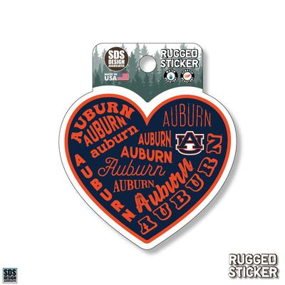 Auburn Seasons Design Heart All Over Words 3.25