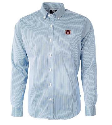 Auburn Cutter & Buck Men's Versatech Pinstripe Button Up
