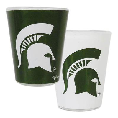 Michigan State 2 oz Two Tone Shot Glass