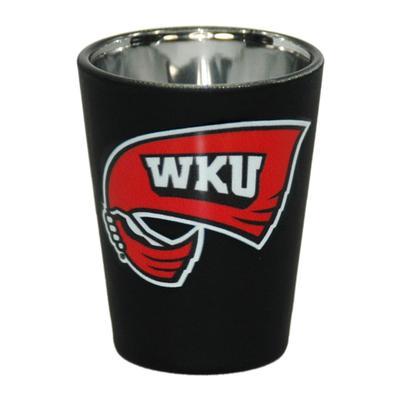 Western Kentucky 2 oz Matte Black Shot Glass