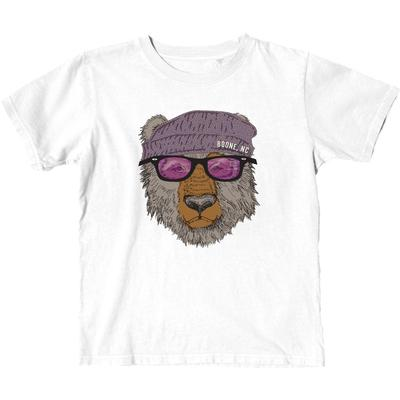 Blue 84 YOUTH Boone Bear with Sunglasses Short Sleeve Tee