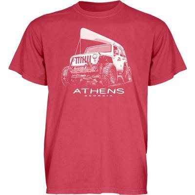 Blue 84 Athens Wheeled Jeep Short Sleeve Tee