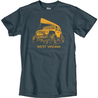 Blue 84 West Virginia Wheeled Jeep Short Sleeve Tee