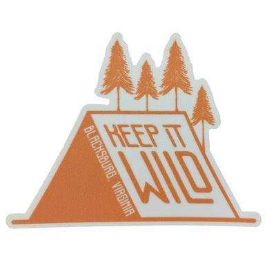 Blacksburg Seasons Designs Keep it Wild Rugged Sticker