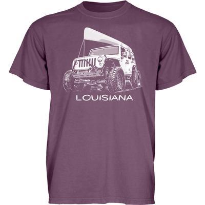Blue 84 Louisiana Wheeled Jeep Short Sleeve Tee