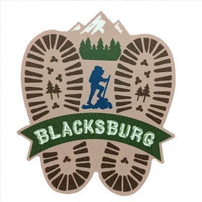 Blacksburg Seasons Designs Hiking Prints Rugged Sticker