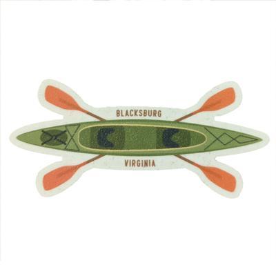 Blacksburg Seasons Designs Kayak Rugged Sticker