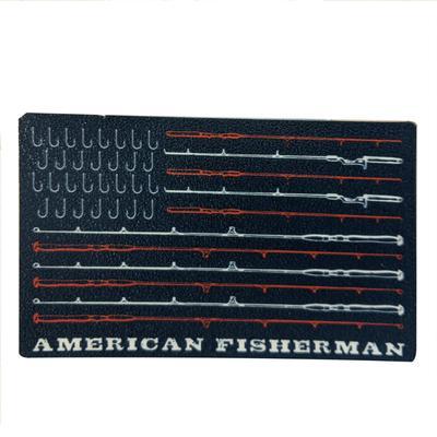 Blacksburg Seasons Designs American Fisherman Rugged Sticker