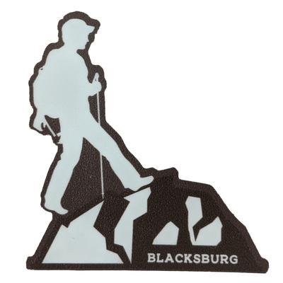 Blacksburg Seasons Designs Male Hiker Rugged Sticker