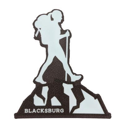 Blacksburg Seasons Designs Female Hiker Rugged Sticker