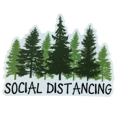Blacksburg Seasons Designs Social Distancing Rugged Sticker