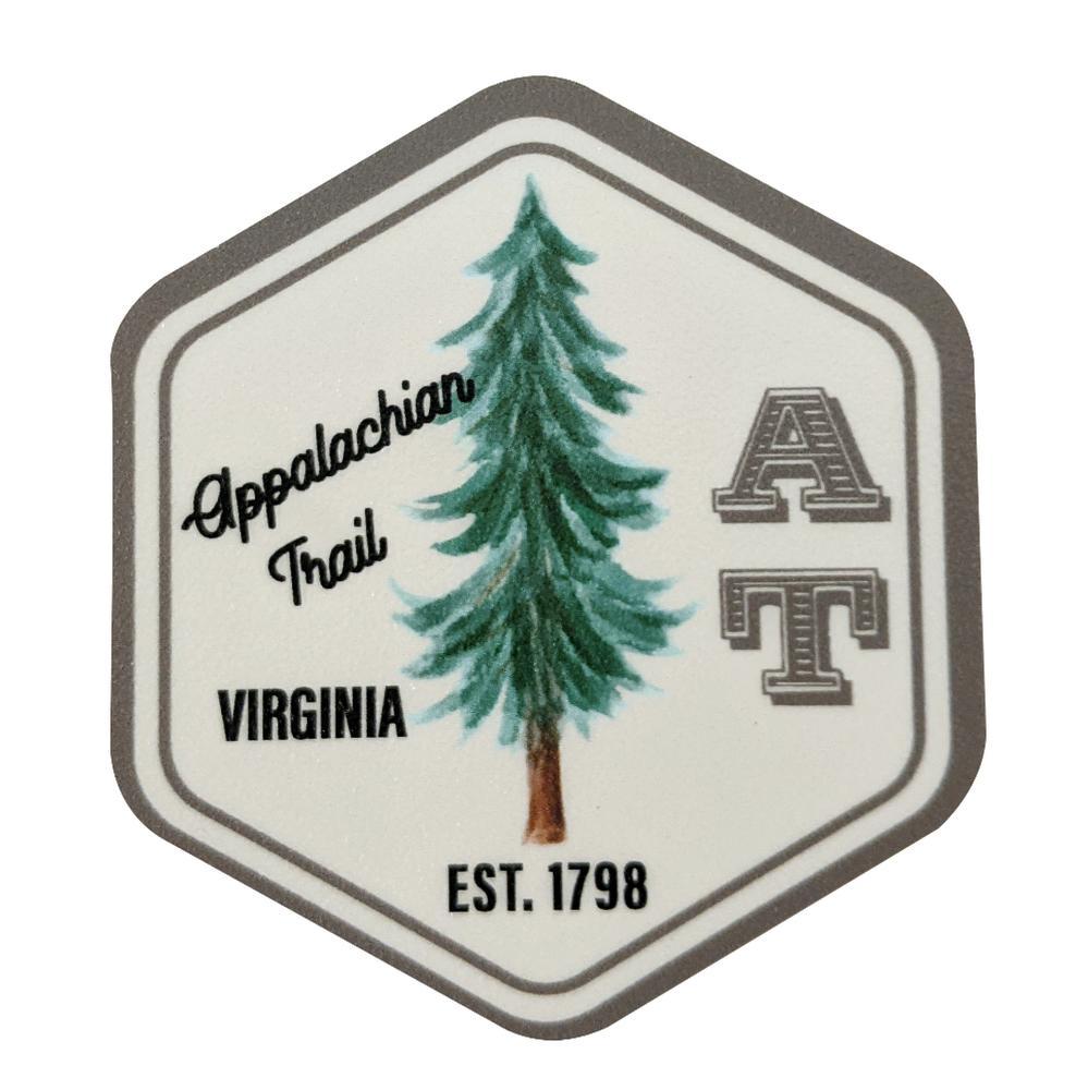 Appalachian Trail Seasons Designs Sign Rugged Sticker