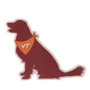 Virginia Tech Seasons Designs Dog Rugged Sticker
