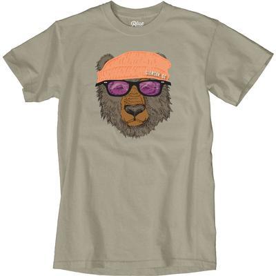 Blue 84 Clemson Bear with Sunglasses Short Sleeve Tee