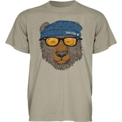 Blue 84 West Virginia Bear with Sunglasses Short Sleeve Tee