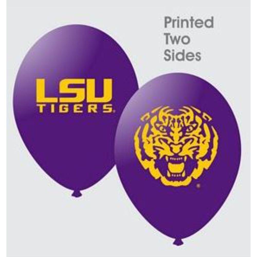 Lsu 10 Pack Latex Balloons