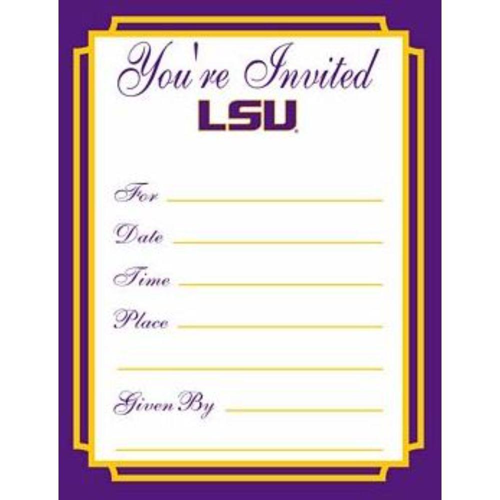 Lsu Formal Invitations