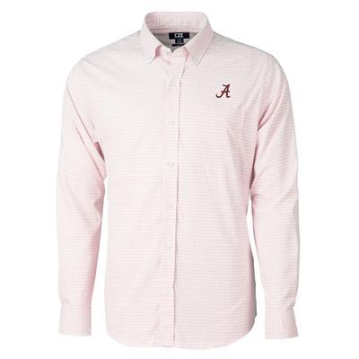 Alabama Cutter & Buck Versatech Tattersall Button Up Shirt