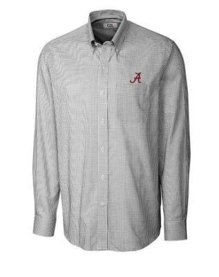 Alabama Cutter & Buck Big & Tall Tattersall Woven Dress Shirt