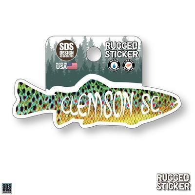 Seasons Design Clemson Fish 3.25
