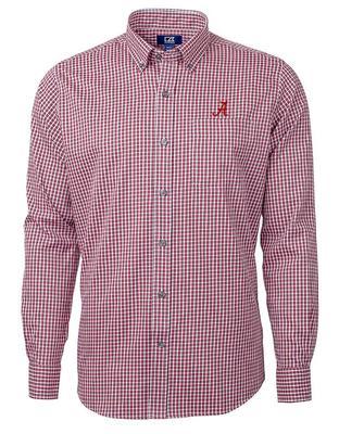 Alabama Cutter & Buck Big & Tall Versatech Multi Check Dress Shirt