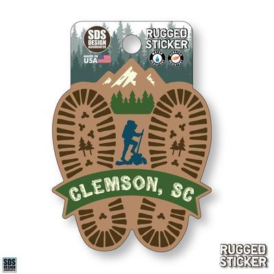 Seasons Design Clemson Hiking Prints 3.25
