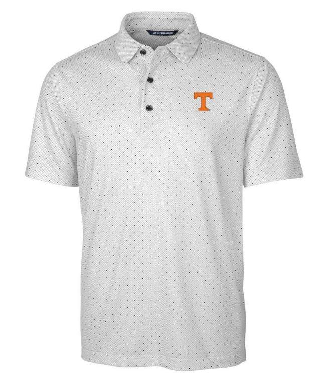 Tennessee Cutter & Buck Big & Tall Pike Double Dot Print Polo