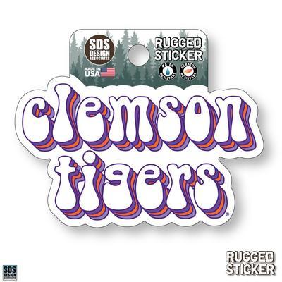 Seasons Design Clemson Stacked Bubble 3.25