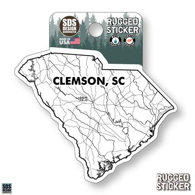 Seasons Design Clemson State Map 3.25