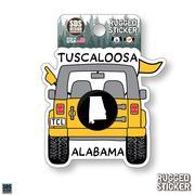 Seasons Design Tuscaloosa Cartoon Jeep 3.25