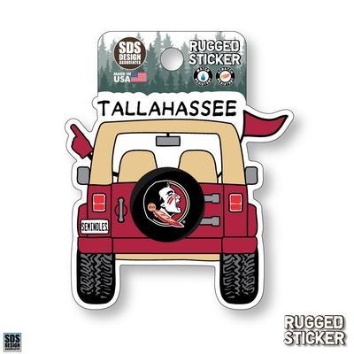 Florida State Seasons Design Cartoon Jeep 3.25