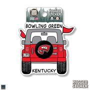 Western Kentucky Seasons Design Cartoon Jeep 3.25