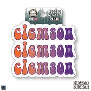 Seasons Design Clemson Retro Fade 3.25