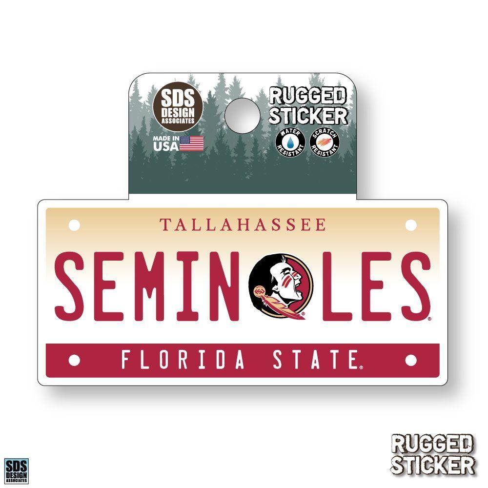 Florida State Seasons Design License Plate 3.25