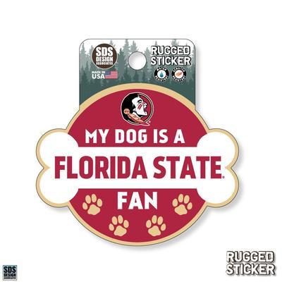 Florida State Seasons Design My Dog is a Fan 3.25