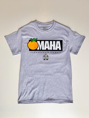 Tennessee Baseball Orange Omaha Tee DISC_GREY