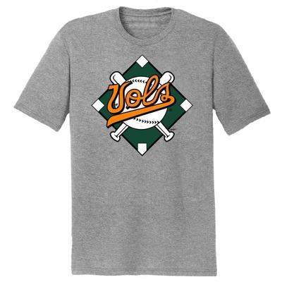 Tennessee Vols Baseball Diamond Dual Blend Short Sleeve Tee Shirt