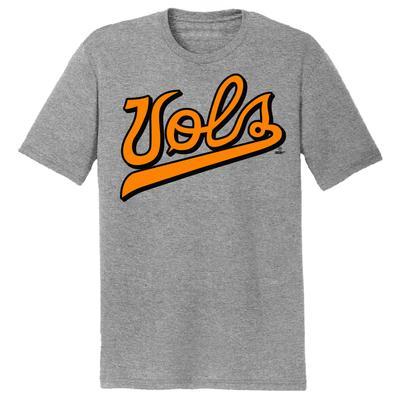 Tennessee Baseball Vols Script Dual Blend Short Sleeve Tee