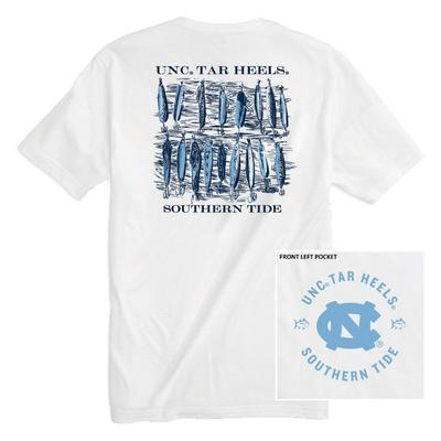 UNC Southern Tide Lures Short Sleeve Tee