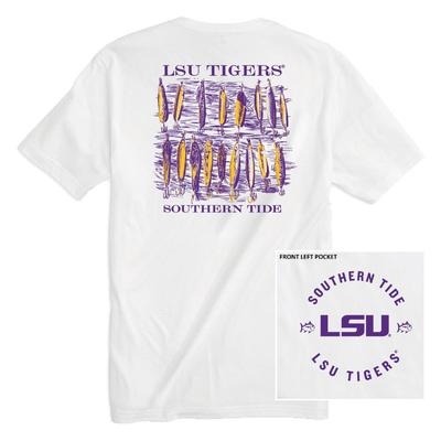 LSU Southern Tide Lures Short Sleeve Tee