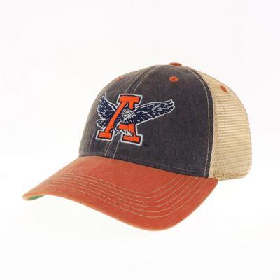Auburn Legacy Vault Eagle Thru A Logo Trucker Hat