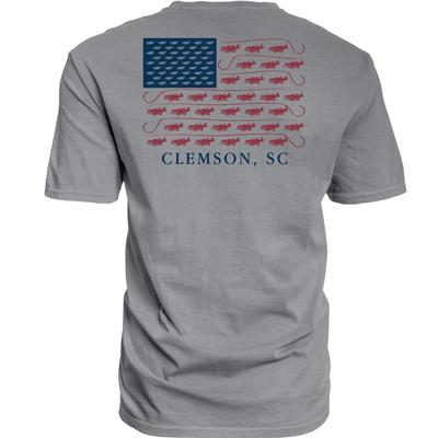 Clemson SeafarerBass Americana Comfort Colors Tee